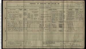 Sidney Fillery 1911 Census © Ancestry.co.uk