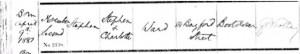 Stephen Ward Baptism Registration © ancestry.co.uk