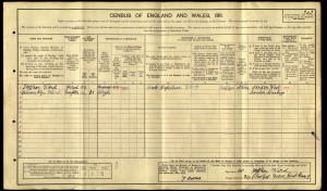 Stephen Ward 1911 Census © findmypast.co.uk