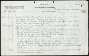 Stephen Ward WW1 Diary 1 © Ancestry.co.uk