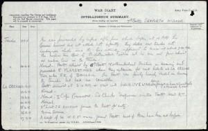 Stephen Ward WW1 Diary 2 © Ancestry.co.uk