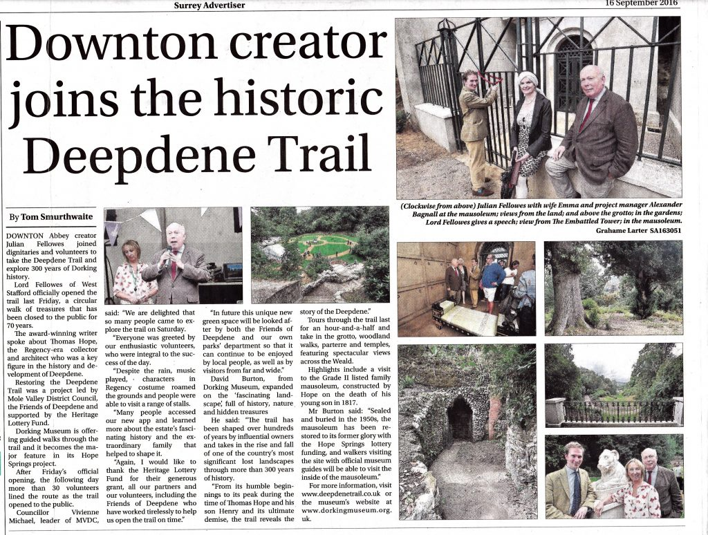 The Opening of The Deepdene Trail September 2016