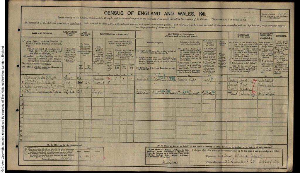 Sydney Charles Elliott Dorking Soldier Ww1