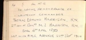 Thomas Harrison Monumental Inscription Detail © Ancestry.co.uk
