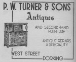 Turner Antiques Advert 1950