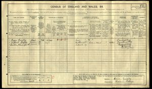 WIlliam Arthur Absolom Gregory 1911 Census © ancestry.co.uk