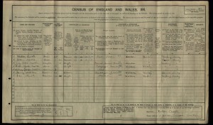 Walter Castle 1911 Census © findmypast.co.uk
