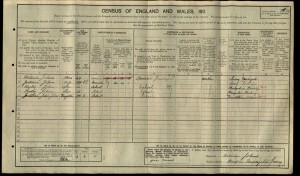 Westley Johns 1911 Census © findmypast.co.uk