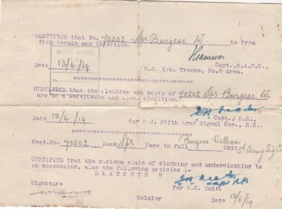 William Burgess  Dorking Soldier  WW1
