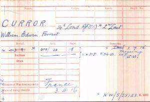 William Curror Medal Rolls Index Cards © ancestry.co.uk