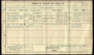 William Edward Drewett 1911 Census © Ancestry.co.uk