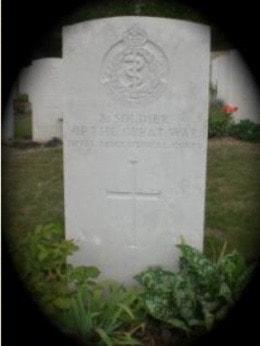 William Edward Drewett Grave © www.ramc-ww1.com