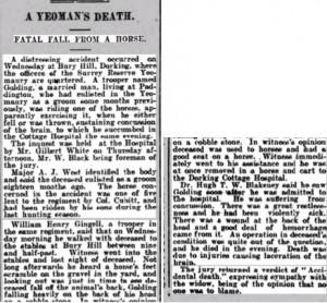 William Golding Death Notice © Dorking Advertiser findmypast.co.uk