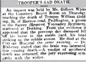 William Golding Inquest © Surrey Advertiser findmypast.co.uk