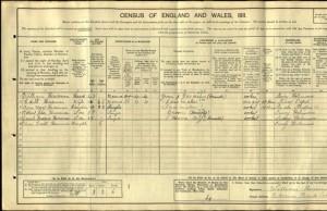 William Heasman 1911 Census © Ancestry.co.uk