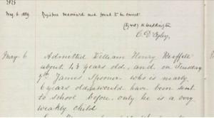 William Henry Ruffell 1889 School Registration © findmypast.co.uk