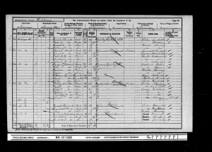 William James Dudley Wood 1901 Census © Ancestry.co.uk