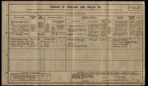 William James Dudley Wood 1911 Census © Ancestry.co.uk
