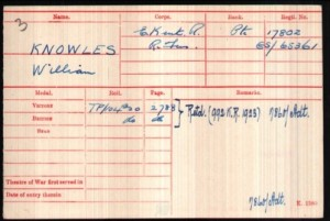 William Knowles Medal Index Roll © Ancestry.co.uk