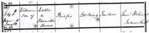 William Philps Baptism Registration © ancestry.co.uk