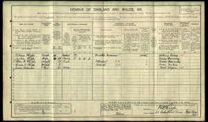 William Phlips 1911 Census © Ancestry.co.uk