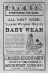 Charles Degenhardt Babywear Advert