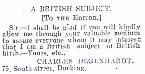 Degenhardt Letter
