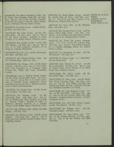 Percy Croucher Roll of Honour © CWGC